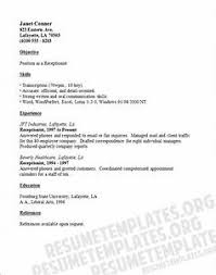 resume template for receptionist resume template for receptionist pointrobertsvacationrentals