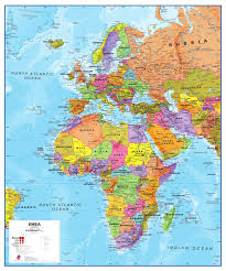 Map Of Middle East And Africa by Emea Europe Africa Middle East Map Europe Europe Wall Maps