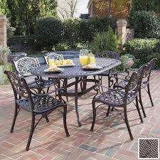 captivating outdoor furniture wrought iron dining sets patio