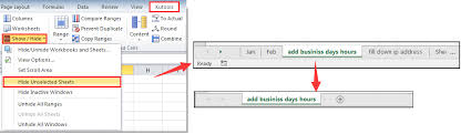 how to hide all worksheets except but the specified or active one