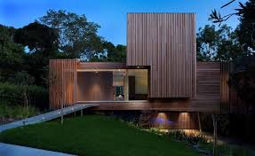 Outdoor Wood Ceiling Planks by Modern Timber House Exterior Contemporary With Horizontal And