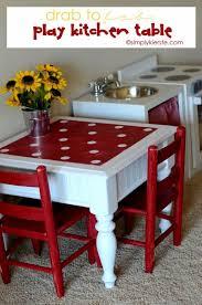 faire une cuisine pour enfant transformer une table pour en faire un ensemble de cuisine pour
