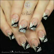 black nails with designs trend manicure ideas 2017 in pictures