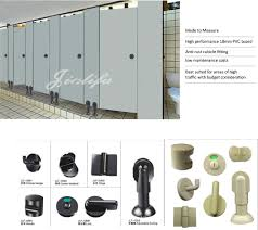 Toilet Partition Hardware Waterproof Nylon Hardware Washable Pvc Panels Toilet Partitions