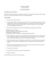 Security Job Resume Objective Resume L Ile Au Tresor Website To Help Make A Resume 10 Types Of