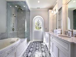 White Mosaic Bathroom Floor Tile  Amazing Mosaic Bathroom Floor - Bathroom mosaic tile designs