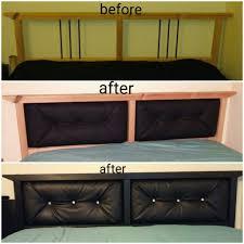 ikea hack sorta upholstered headboard on the dalselv bed frame