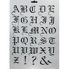 imagenes goticas letras plantilla cadence 21x30cm letras góticas manualidades trasgu
