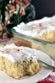 eggnog tres leches cake flavor mosaic