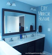 Wood Frames For Bathroom Mirrors Bathroom Trim Around Bathroom Mirror Amazing On Within How To