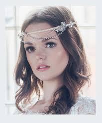 wedding headdress bridal whimsical flower rhinestone swagged crown deco wedding