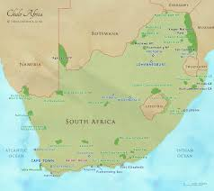 Africa Map Rivers South Africa Safari Map Chalo Africa