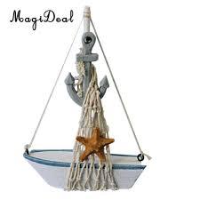 sailboat home decor online shop magideal nautical sailboat mini wooden buoy sailing