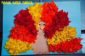 tissue paper turkey kid s craft