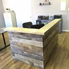 Stand Up Reception Desk Reclaimed Wood Reception Counter Reclaimed By Kfarmswoodworking