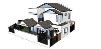 Corner Lot House Plans Mez Design Solution Double Storey Corner Lot Modern Extension