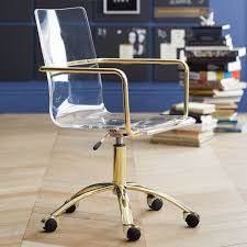 Gold Paige Acrylic Swivel Chair  PBteen