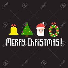 pixel art background with christmas symbols royalty free cliparts