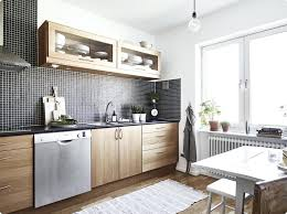 cuisine blanc et bois deco cuisine noir stunning cuisine en bois noir photos