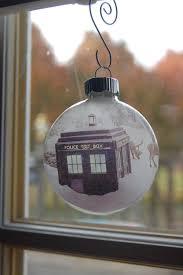 Glass Christmas Ornament Sets - glass christmas ornament set of 4 tardis and dr who christmas