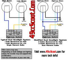 dual headlight system modification 49ccscoot com scooter forums