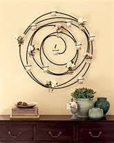 circle flower votive candle holder wall decor wrought iron