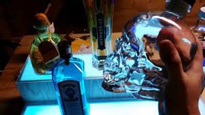 led lighted bar shelves diy led lit liquor shelves led backbar youtube