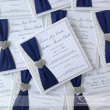 wedding invitations blue handmade wedding invitations marialonghi