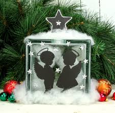 nicole crafts angel glass block christmas glassblock glass