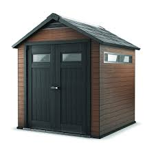 decor plastic composite and wood mahogany backyard sheds costco