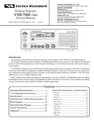 vxr 7000v service manual detector radio electrical circuits