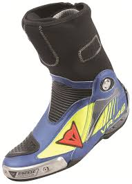 blue motorbike boots dainese axial pro in d1 rossi replica boots revzilla