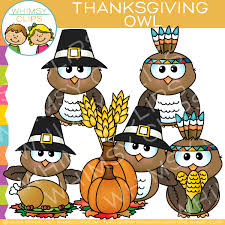 thanksgiving owl clip images illustrations whimsy