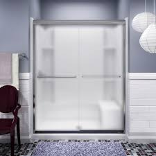 frosted glass interior doors home depot sterling finesse 59 5 8 in x 70 1 16 in semi frameless sliding