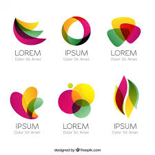 design free logo download colorful logos in abstract style vector free download