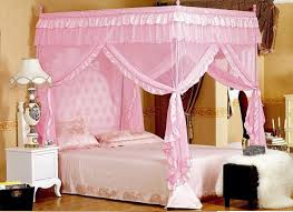 4 corners post bed curtain canopy mosquito net twin xl full queen