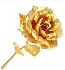 golden roses 24k gold foil plated wedding decoration golden gold