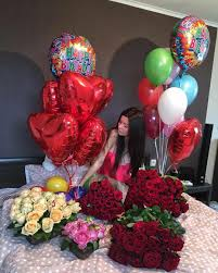bae flowers and balloon at rolody it s my birthday birthdays