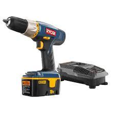 ryobi 18 volt one ni cad 1 2 in cordless drill driver kit p852