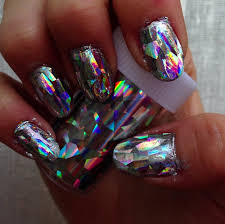 holographic iridescent jelly doll fingernail art make up nails