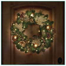 large outdoor lighted wreaths