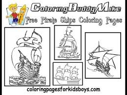 coloringbuddymike pirate ship coloring pages