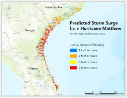Mexico Hurricane Map by Where Will Hurricane Matthew Cause The Worst Flooding Temblor Net