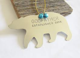 baptism christmas ornament godparent ornament christmas tree ornament wedding gift godmother