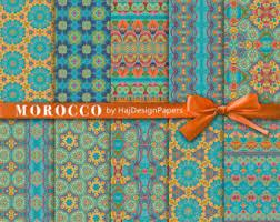 digital paper carpet moroccan