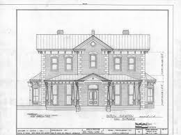 drawing of front elevation of house bracioroom