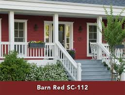 behr barn red stain for the trim cabin construction