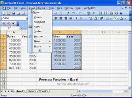 Demand Forecasting Excel Template by Forecast Function In Ms Excel