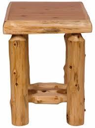Log Side Table Rustic Cedar Log Side Table 11010 Lonesome Cottage Furniture