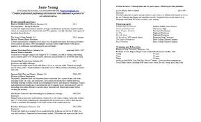 Ballet Resume Sample by Sample Of Resume For Teacher Examples Of Teacher Resume Resume
